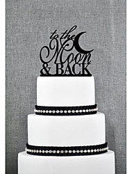 cheap -Cake Topper Garden Theme Acrylic Wedding Anniversary Bridal Shower With OPP