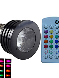 E14 GU10 B22 E26/E27 LED Spotlight MR16 1 High Power LED 500 lm RGB 6500~7000 K Dimmable Sound-Activated Remote-Controlled Decorative AC
