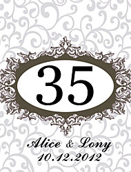 cheap -Personalized Square Table Number Card--Fam (Set of 10)
