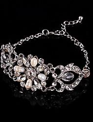 Vintage Luxurious Diamond Fresh Pearls Wedding Silver Bracelet For Women Lades Bridal Birthday GIft 1930's Wedding
