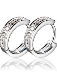 economico -Orecchini a cerchio imitazione diamante Schermo a colori Gioielli 2 pezzi