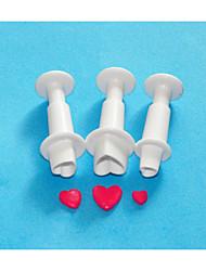 quatro c bolo formato de coração fondant decoração êmbolo cortador, ferramentas fondant bolo decoração definida