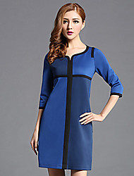 cheap -Classic & Timeless A Line Dress - Solid Color, Pure Color