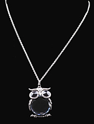 cheap -Women's Lockets Necklace / Y Necklace - Rhinestone Owl, Flower Fashion Black Necklace For Wedding, Party, Party / Evening / Daily / Casual