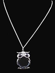preiswerte -Damen Eule Modisch Medaillons Halsketten Strass Glas Aleación Medaillons Halsketten . Hochzeit Party Alltag Normal