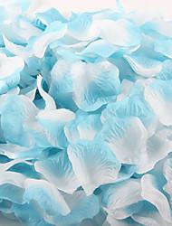 abordables -Pétalos de rosa artificiales del color del gradiente de 100 PC para la boda del partido de la decoración