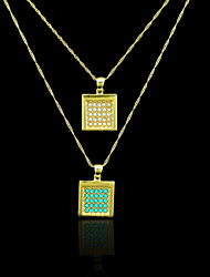Pendenti Metallo / Perla Square Shape come immagine 1