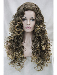 cheap -Synthetic Wig Curly Layered Haircut Waterfall Brown Women's Full Lace Carnival Wig Halloween Wig Black Wig Medium Synthetic Hair Daily