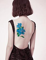 Недорогие -1 pcs Временные тату Временные татуировки Тату с цветами Новый дизайн / Безопасность Искусство тела рука / назад / Стикер татуировки