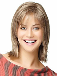 cheap -The New Light Gold Mixed European And American Short Hair Wig