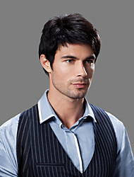 Недорогие -высший сорт качества шапки волосы мужские парики человека 4 цвета на выбор