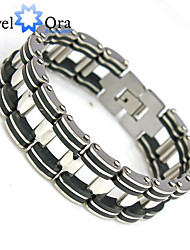 Fashion jewelry Chain Link Statement Bracelets 210mm 304 Stainless Steel Punk Men's Bracelet