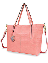 Women Bags All Seasons Cowhide Shoulder Bag Tote for Casual Blushing Pink