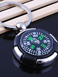 cheap -Unisex Alloy Casual Keychain Round Shape Compass Key Chains