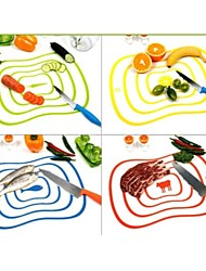 cheap -Flexible Ultra-thin Kitchen Tool Fruit Vegetable Cutting Chopping Board Mat Random Color