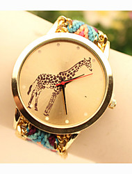 cheap -Fashion Women's Giraffe National Weaving South Korea Style Chain DIY Watch Cool Watches Unique Watches