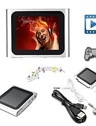 Недорогие -8gb mp3 mp4 6-й поколения ЖК-экран FM-радио плеер тонкий видеоигры кино