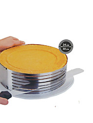 Fashion Metal Circle Adjustable Stainless Steel Chiffon Mousse Cake Layer Cut Slicer Bakeware Cooking Cake SS-43