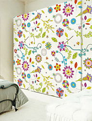abordables -Tatuajes de pared pegatinas de pared, patrón de flores de pvc pegatinas de pared