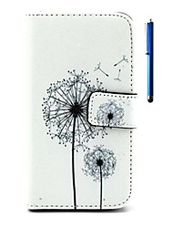 cheap -Case For LG LG Case Wallet Card Holder with Stand Flip Full Body Dandelion Hard PU Leather for LG V10 LG K10 LG K8 LG K7 LG K4 LG G5 LG