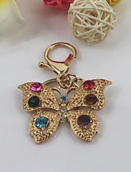 moda unisex di cristallo brillante farfalla portachiavi ciondolo