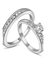 baratos -Mulheres Cristal Anel de declaração / Conjuntos de anéis - Imitações de Diamante 6 / 7 / 8 Para Casamento / Festa / Diário