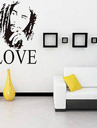 cheap -Wall Stickers Wall Decals, Style Bob Marley One Love English Words & Quotes PVC Wall Stickers