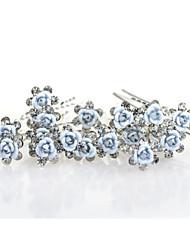 cheap -Crystal Fabric Alloy Tiaras 1 Wedding Party / Evening Headpiece