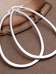 cheap -Women's Hoop Earrings Fashion Statement Jewelry Costume Jewelry Copper Silver Plated Geometric Jewelry For Party Daily Casual