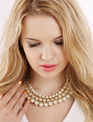 cheap -Women's Fashion European Statement Necklace Pearl Statement Necklace , Party