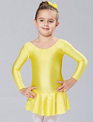economico -Danza classica Vestiti / Abiti / Gonne / Tutù e gonne Addestramento / Prestazioni Elastene Manica lunga Da ballo Abito / Balletto