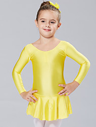 abordables -Ballet Robes Robes et Jupes Tutus & Jupes Entraînement Utilisation Spandex Manches Longues Princesse Robe