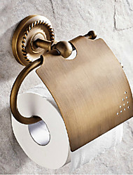 Toilet Paper Holder / Antique Brass Brass /Antique