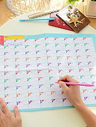 abordables -Calendario de cuenta regresiva de 100 días Calendario de estudio de trabajo práctico encantador (color aleatorio)