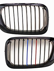 m-farve skinnende sort gitter grill nyre til BMW E46 2-dørs m3 98-03