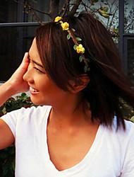 cheap -Small Flower Headband, Flower Crown, Wedding Headband, Music Festival Bohemian Hair Band