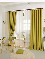 cheap -Rod Pocket Grommet Top Tab Top Double Pleat Pencil Pleat One Panel Curtain Country Modern Neoclassical European Designer , Embossed Solid