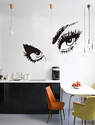 Adesivos de parede adesivos de parede 3D, estilo pessoas encantadores olhos parede pvc etiquetas
