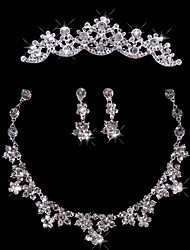 Women's Rhinestone Wedding Special Occasion Anniversary Birthday Engagement Gift Alloy Earrings Necklaces Tiaras