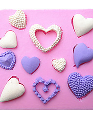 formato de coração fondant silicone moldes do bolo de chocolate do molde para a ferramenta sugarcraft decoração da cozinha do cozimento