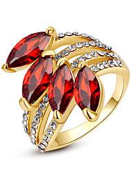 baratos -Mulheres Cristal / Ruby Sintético / Diamante sintético Anel de declaração - Imitações de Diamante Pedras dos signos 7 / 8 / 9 Para Casamento / Festa / Diário