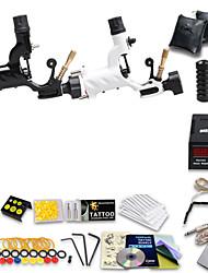 abordables -Machine à tatouer Kit de tatouage professionnel - 2 pcs Machines de tatouage LCD alimentation Case Not Included 2 x Machine à tatouer rotative pour le traçage et l'ombrage