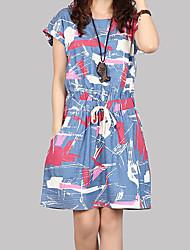 cheap -Women's Chic & Modern Dress - Print, Print