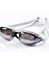 baratos -Óculos de Natação UnisexoAnti-Nevoeiro / Á Prova-de-Água / Tamanho Ajustável / Proteção UV / Anti-Estilhaços / Almofadas Laterais