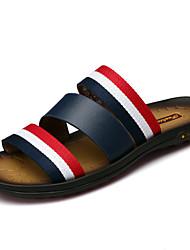 preiswerte -Herrn Schuhe Leder Frühling Sommer Herbst Komfort Slippers & Flip-Flops Wasser-Schuhe für Normal Kleid Draussen Büro & Karriere Schwarz
