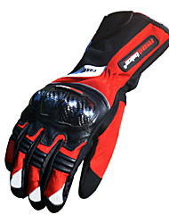 Motos luvas Dedo Total Fibra de Carbono de Bamboo L/XL/XXL Vermelho/Preto/Azul