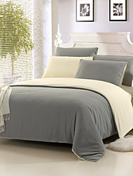 cheap -Yuxin® Light Gray Color Cotton Duvet Cover Sets 4 Piece Suit Comfort Simple Modern for Twin Full and Queen Bed Size