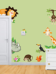 wall stickers Vægoverføringsbilleder, stil zoo giraf abe pvc wall stickers