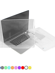 "cheap -Case for MacBook Pro 13.3"" with Retina display Solid Color Plastic Material Protective Polycarbonate Translucent Full Body Crystal Case"