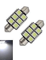 abordables -1.5W 100-150 lm Guirlande Lampe de Décoration 6 diodes électroluminescentes SMD 5050 Blanc Froid DC 12V